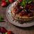アメリカン · パンケーキ · イチゴ · 新鮮な · チョコレート · ミント - ストックフォト © Peteer