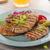 ızgara · domuz · eti · otlar · sarımsak · patates · krep - stok fotoğraf © Peteer