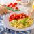 jajecznica · zioła · pieczywo · białe · świeże · sok · pomarańczowy · tle - zdjęcia stock © Peteer
