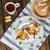 yumurta · domuz · pastırması · tost · domates · salata · yumurta - stok fotoğraf © peteer