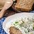 自家製 · ヨーグルト · ディップ · ブルーチーズ · チャイブ · 全粒粉パン - ストックフォト © Peteer
