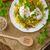 tavasz · saláta · lencse · tojás · friss · gyógynövények - stock fotó © peteer