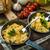 jajecznica · zioła · domowej · roboty · chleba · dwa · tabeli - zdjęcia stock © Peteer