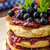 glutten free pancakes with jam and blueberries stock photo © peteer