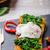 tostado · baguette · huevo · ajo · espinacas · mesa - foto stock © peteer