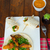 frango · tortilla · feijões · vermelho · caril · mesa · de · madeira - foto stock © Peteer