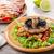 a · la · parrilla · cerdo · risotto · rústico · restaurante · mesa - foto stock © Peteer
