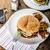 uovo · pancetta · formaggio · burger · fatto · in · casa · vecchio - foto d'archivio © peteer