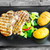 cerdo · chuleta · patatas · rojo · pimienta · queso · rallado - foto stock © peteer