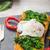 huevo · ensalada · rústico · verde · frescos · plato - foto stock © peteer