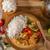 finom · csirkés · curry · fehér · rizs · egyszerű · tele - stock fotó © Peteer