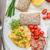 salsiccia · uova · colazione · link · uova · strapazzate · alimentare - foto d'archivio © peteer