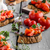 bruschetta with tomatoes garlic and herbs stock photo © peteer