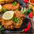 куриные · фри · Салат · продовольствие · фон · мяса - Сток-фото © peteer