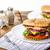 sığır · eti · Burger · sahanda · yumurta · domuz · pastırması - stok fotoğraf © Peteer