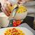 geserveerd · omhoog · saus · kerstomaatjes · voedsel - stockfoto © peteer