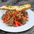 húsgombócok · sült · paradicsomszósz · sajt · tészta · hús - stock fotó © peteer