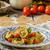 tészta · sajt · tál · kék · búza · főzés - stock fotó © peteer