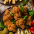 orijinal · patates · kızartması · ev · yapımı · sıcak · sos · kırmızı · biber - stok fotoğraf © Peteer