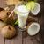 taze · kireç · hindistan · cevizi · beyaz · yarım · lezzetli - stok fotoğraf © peteer