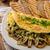 huevos · revueltos · hierbas · casero · pan · dos · mesa - foto stock © peteer