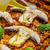 tavuk · pirinç · mantar · domates · otlar - stok fotoğraf © Peteer