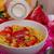 здорового · завтрак · кукурузные · хлопья · молоко · плодов · клубники - Сток-фото © peteer