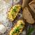 uova · strapazzate · erbe · croccante · pane · fatto · in · casa · alimentare - foto d'archivio © Peteer