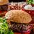 cheeseburger · frytki · sos · odizolowany · zielone · kurczaka - zdjęcia stock © peteer