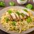 pasta · queso · pollo · casero · salsa - foto stock © Peteer