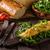 szynka · pomidorów · zielone · Sałatka · jedzenie - zdjęcia stock © peteer