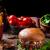 rundvlees · hamburger · schimmelkaas · eigengemaakt · nachos · chips - stockfoto © Peteer