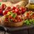 italian bruschetta with roasted tomatoes and garlic stock photo © peteer