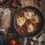 トマト · 卵 · 鋳鉄 · パン · 木材 · 表 - ストックフォト © peteer