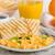 kávé · narancslé · croissant · szendvics · kő · asztal - stock fotó © peteer
