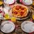 rustic salami pizza with chorizo stock photo © peteer
