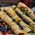 áfonya · palacsinták · tányér · villa · fa · asztal · fa - stock fotó © peteer