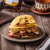 pancakes with bacon banana and maple sirup stock photo © peteer