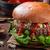 говядины · Burger · голубой · сыр · домашний · Начо · чипов - Сток-фото © peteer