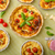 quiche with cheese and cherry tomatoes stock photo © peteer