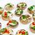 friss · ehető · gomba · champignon · petrezselyem · zöld - stock fotó © peteer