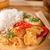 vermelho · caril · frango · arroz · filé · jantar - foto stock © peteer