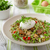 Lentil salad with poached egg stock photo © Peteer