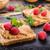 toast · masło · orzechowe · jagody · rustykalny · mięty · domowej · roboty - zdjęcia stock © Peteer