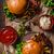 hamburger · sültkrumpli · paradicsomszósz · asztal · étel · sajt - stock fotó © peteer