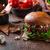 牛肉 · ハンバーガー · ブルーチーズ · 自家製 · ナチョス · チップ - ストックフォト © Peteer