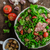 alface · salada · tomates · cereja · madeira · vermelho · cinza - foto stock © peteer