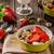 kása · joghurt · friss · diók · eprek · egészséges - stock fotó © Peteer