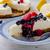 citrom · sajttorta · bogyók · friss · gyümölcsök · sötét - stock fotó © Peteer