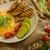 jajecznica · kremowy · puszysty · panini · toast · wapno - zdjęcia stock © Peteer